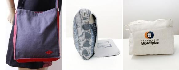 bolsas produzidas com lona pet