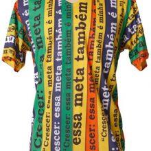 blusa com sublimação - estampa colorida