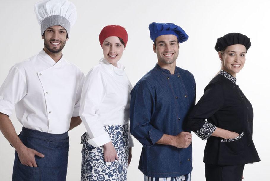 dolmã e chefs de cozinha