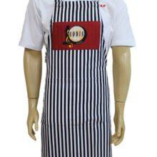 Avental listrado masculino do Eddie Fine Burgers