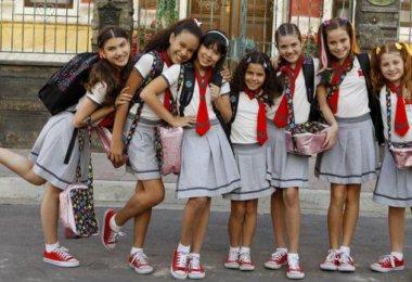 Uniforme escolar infantil das Chiquititas