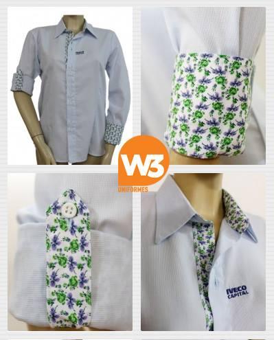 camisa social feminina de uniforme