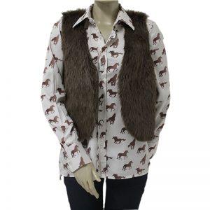 camisa social para cavalgada com colete