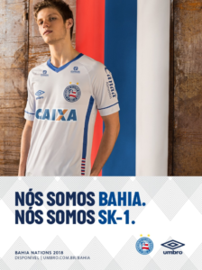 Camisa do Bahia em homenagem à seleção da Rússia, que está na Copa do Mundo
