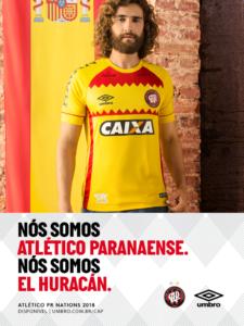 Camisa do Atlético Paranaense em homenagem à seleção da Espanha, que está na Copa do Mundo