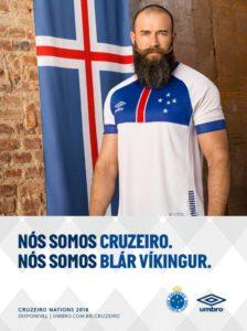 Camisa do Cruzeiro em homenagem à seleção da Islândia, que está na Copa do Mundo
