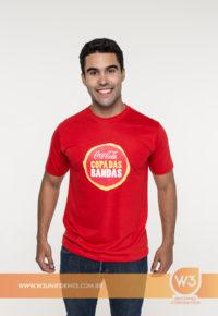 Camiseta De Malha Vermelha - Coca-cola