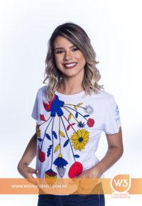 Camiseta Feminina De Malha Branca Para Brinde - Sebrae