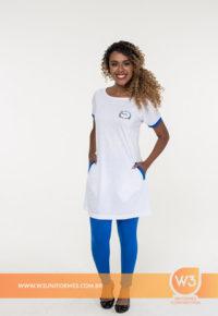 Bata De Promotora Em Malha Pv E Calça Legging - Nestle