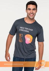 Camiseta Pv Para Uniforme - Oi