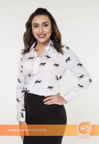 Camisa Social Feminina De Crepe Seda - Mangalarga Marchador