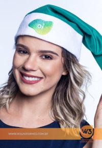 Chapéu De Papai Noel Personalizado - Oi