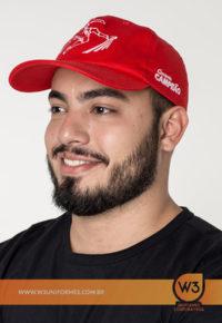 Boné De Brim Vermelho - Cimento Campeão