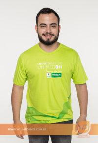Camiseta De Malha Verde Para Evento - Unimed