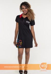 Vestido Gola Pólo Para Promotora - Fiat Uno