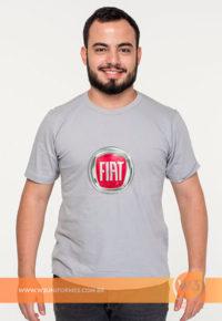 Camiseta De Malha Cinza Claro Para Evento - Fiat
