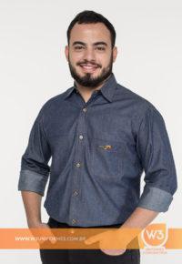 Camisa Social Jeans - Campolina
