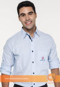 Camisa Social Com Botões Coloridos - Salesiano