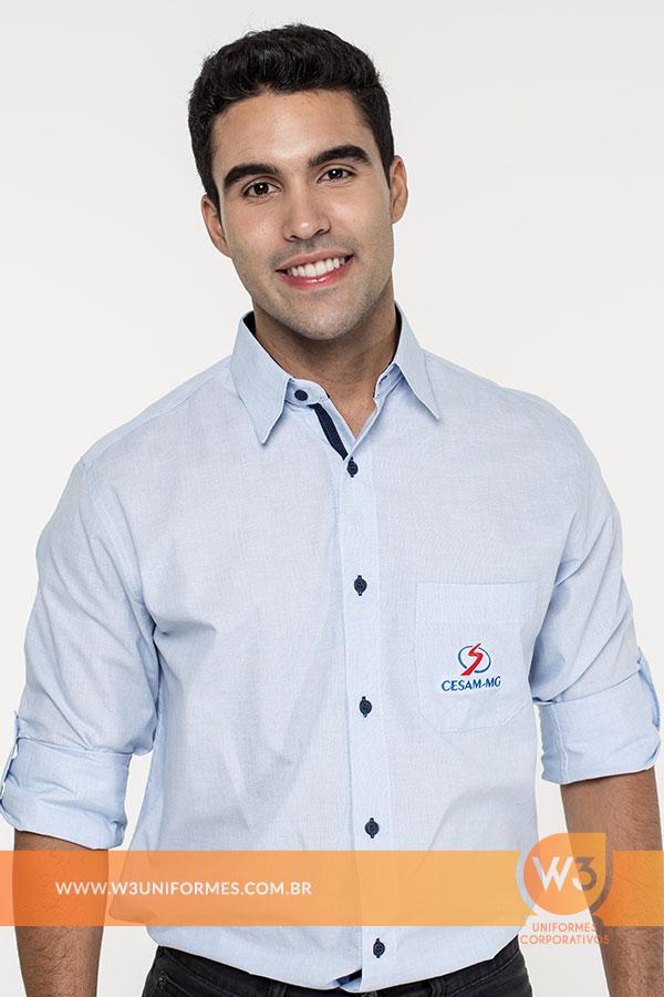 Camisa Social Com Botões Coloridos - Salesiano cab4591d448f1