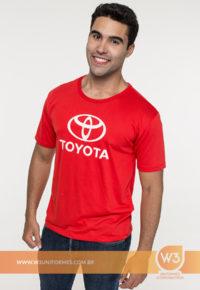Camiseta De Malha Vermelha - Toyota