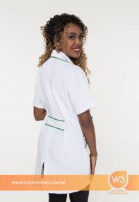 Jaleco Branco Para Uniforme Feminino - Esa