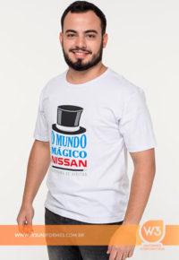 Camiseta De Malha Branca Para Evento - Nissan