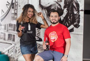 Camisa promocional da Coca Cola