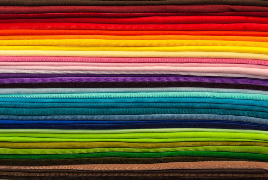 Vários tecidos para mostrar variação de cor
