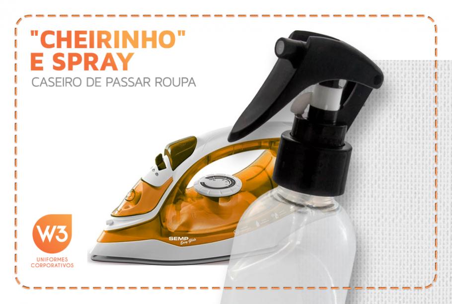 Capa de artigo sobre spray de passar caseiro e desodorante de roupa