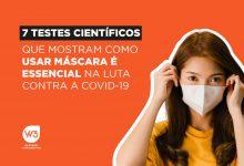 testes científicos máscaras