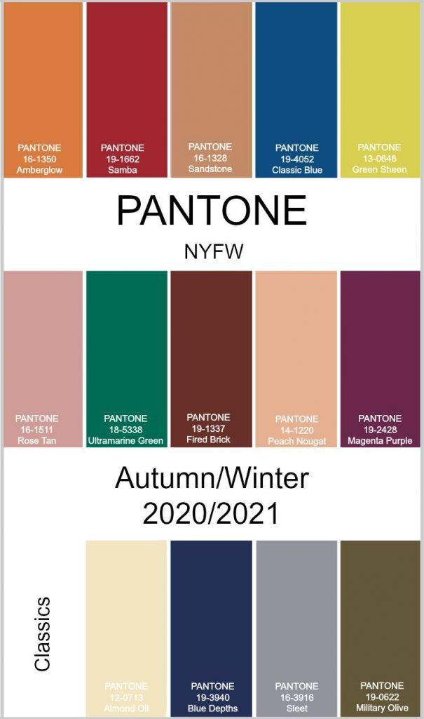 cores pantone 2021