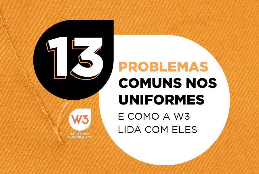 problemas comuns nos uniformes