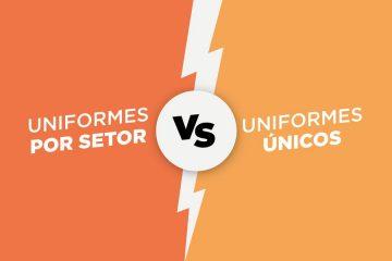 Capa do artigo uniforme por setor ou uniformes únicos